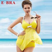 安莉芳集团E-BRA女士时尚吊带裙款分体泳衣春夏泳装
