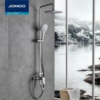 JOMOO九牧淋雨喷头套装浴室花洒方形淋浴顶喷升降淋浴器 36310