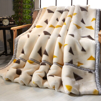 拉舍尔毛毯加厚春秋单人双人珊瑚绒毯子双层冬季被子盖毯