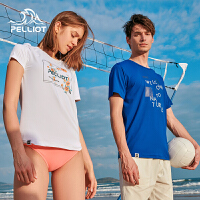 【5折再叠加店铺券】伯希和速干T恤新款夏季情侣男女圆领潮流印花短袖弹力快干衣