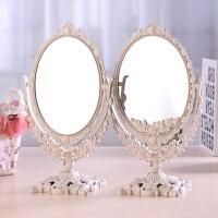 台式化妆镜子 欧式镜子 双面梳妆镜 大号镜子 便携公主镜 新款