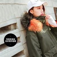 中长款羽绒服女2018冬季装新款韩版潮百搭过膝白鸭绒宽松复古外套