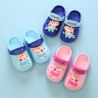 小猪佩奇幼儿拖鞋夏女童1-3岁可爱防滑软底小公主外穿时尚洞洞鞋