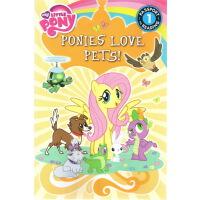 【英文原版】 My Little Pony: Ponies Love Pets! 小马宝莉/彩虹小马