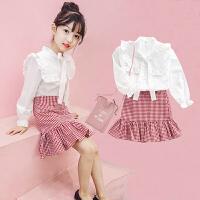 女童秋装套装时尚潮衣春秋季洋气时髦两件套大儿童装
