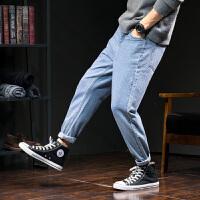 [2.5折价68.9元叠加200-30】唐狮牛仔裤男宽松哈伦牛仔长裤韩版潮流