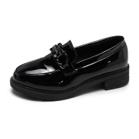 小皮鞋女学生韩版英伦风复古平底社会女士单鞋一脚蹬上班鞋子女夏