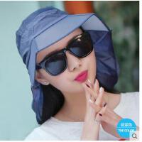遮阳帽女防晒折叠户外帽防紫外线帽子女夏天韩版时尚太阳帽骑车帽可礼品卡支付