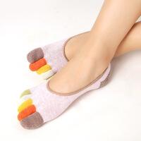茉蒂菲莉 五指袜 春秋隐形防滑硅胶棉浅口船袜五指袜