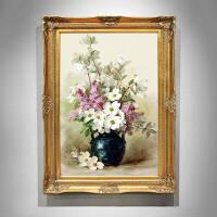 欧式油画手绘客厅挂画简约花卉走廊美式餐厅画壁画卧室玄关装饰画 80*110 单幅价格