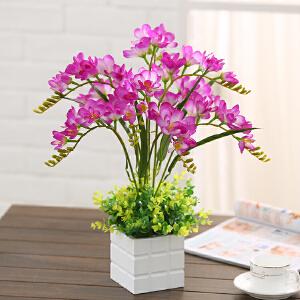 御目 摆件 仿真花套装室内书房客厅卧室餐桌桌面塑料假花盆栽装饰花摆设 创意家饰