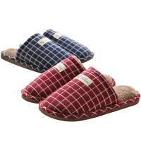 冬季可爱情侣毛毛绒棉拖鞋女男家居家用
