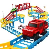 儿童玩具电动轨道车赛车跑道拼装汽车小火车
