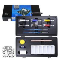 温莎牛顿winsornewton歌文水彩颜料套装新手技法指引/小木盒
