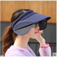 帽子女户外骑车防晒太阳帽遮阳帽防紫外线遮脸电动车伸缩镜片可礼品卡支付