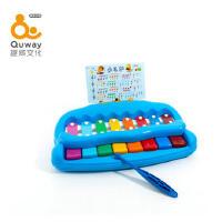 趣威文化儿童音乐快乐农场小钢琴敲琴八音琴儿童乐器宝宝玩具琴