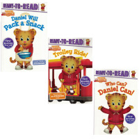 英文原版绘本Ready to read分级阅读Daniel Tiger丹尼尔老虎3册合售 儿童启蒙平装图画故事书