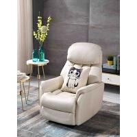 头等太空舱真皮沙发现代简约客厅小户型多功能科技布单人沙发躺椅