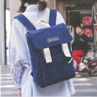 韩版帆布女包双肩包新款印花学生包书包休闲旅行背包