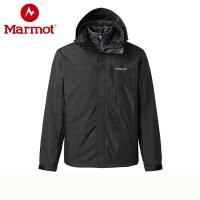 Marmot/土拨鼠2019新款防风防泼水耐磨透气羽绒内胆男三合一冲锋衣