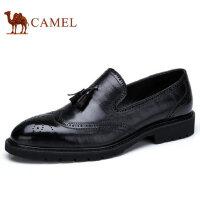 camel 骆驼男鞋秋季新品利落雕花耐磨防滑舒适商务正装皮鞋