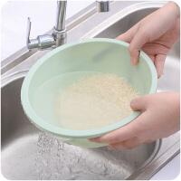 厨房塑料洗菜盆淘米盆水果盘淘米篮沥水篮子洗米家用淘米器