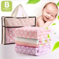 卡伴婴儿毛毯四季空调毯双层毯子盖毯宝宝午睡毯儿童毯被印花盖毯