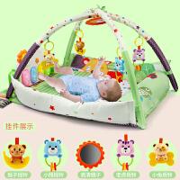 婴儿脚踏钢琴健身架3-6-12个月宝宝男女孩音乐游戏毯玩具0-1岁