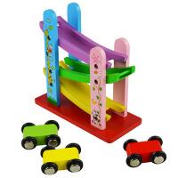 儿童玩具车滑翔轨道小汽车回力惯性宝宝木制多功能