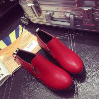 秋冬季新款雪地靴女马丁短靴短筒平底棉鞋学生女鞋女靴子棉靴单鞋