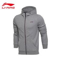 李宁卫衣男士2017新款训练系列开衫长袖外套连帽针织运动服AWDM327