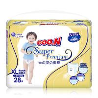 大王 GOO.N婴儿短裤式纸尿裤 尿不湿 光羽系列XL28片