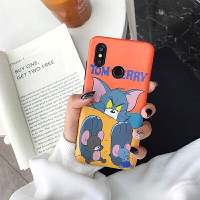 卡通猫和老鼠小米8se手机壳硅胶软壳小米6X保护壳max3汤姆猫mix2s 小米8【汤姆橙色】软壳 送钥匙扣钢化膜