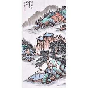 泰安市书画家 协会会员 贺老师《江山如画》SS 4673