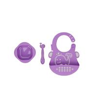 【当当自营】加拿大 MARCUS&MARCUS 婴儿喂食礼品套装 紫色海豚