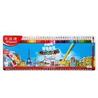 马培德MAPED 水溶性彩色铅笔儿童绘画文具12色/24色/36色 48色铁盒 836018CH