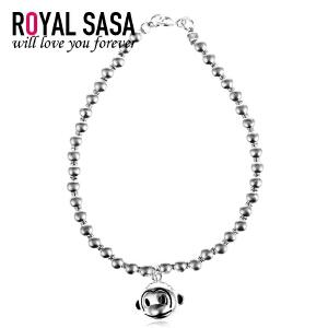 皇家莎莎RoyalSaSa卡通小猴子女银手链圆珠925银欧美时尚饰品送女友生日礼物HSL511001