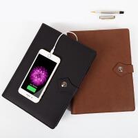 创意文具B5笔记本带充电宝移动电源活页记事本商务礼品定制LOGO 多功能办公记事本定制