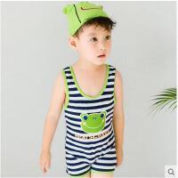 儿童泳衣泳装度假防晒游泳裤男童连体条纹小青蛙可爱宝宝婴儿可礼品卡支付