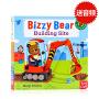 【满300-100】【包邮】建筑工地小帮手英文原版绘本 Bizzy Bear Building Site 忙碌的小熊 机关操作书 小熊很忙系列纸板书抽拉游戏书 交通工具儿童书籍
