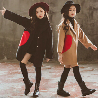 2018新款秋冬洋气加厚儿童呢子大衣中长款潮女童毛呢外套冬装韩版