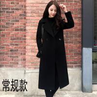 赫本�L毛呢大衣女中�L款加厚2018秋冬季新款�n版�W生呢子森系外套