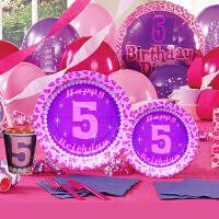 孩派 生日用品 派对用品套装 儿童生日用品 五岁女孩主题系列