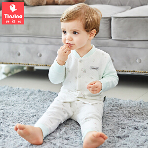 【1件3折价:50.7】纤丝鸟(TINSINO)童装男女童秋衣秋裤儿童保暖内衣套装婴儿衣服