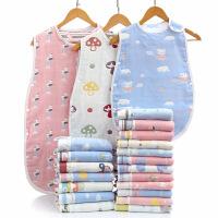 睡袋纯棉六层纱布儿童婴儿防踢背心式春秋夏季薄款空调房防着凉