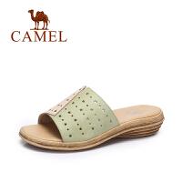 Camel/骆驼女鞋 夏季新款休闲百搭镂空拖鞋 韩版撞色星星拖鞋