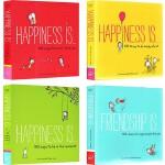 Happiness is ... 幸福是 治愈系全年龄段绘本 英文原版 4册合售