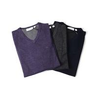 Calvin Klein 男士V领针织衫新款秋季打底衫【美国直邮】