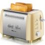 小熊(Bear)多士炉 面包机家用早餐吐司机 烤面包机 黄色 DSL-A02W1