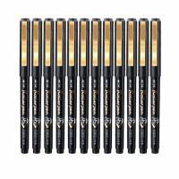 金万年G-0014办公直液式半针管水笔 0.5中性笔 会议签字笔 12支装